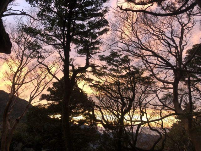 高塚小屋から見る夕焼け